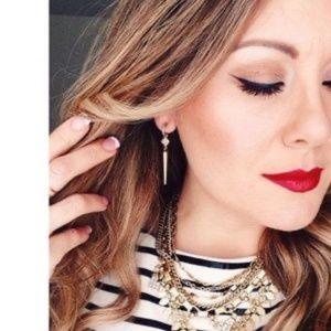Bianca Lariat Earrings - Gold